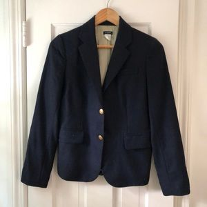 J Crew Navy Gold Button Blazer